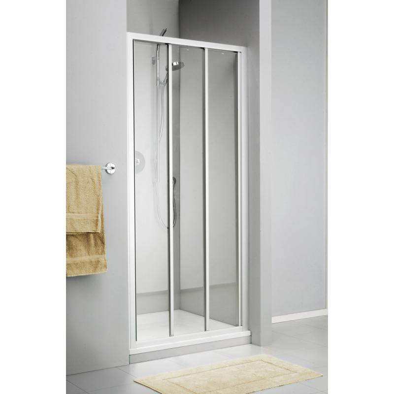 Porte de douche coulissante pour niche c110 90 x 190 cm Porte de douche 110 cm