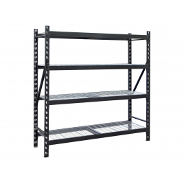 Étagère industrielle 200 x 200 x 61 cm acier noir PRACTO HOME