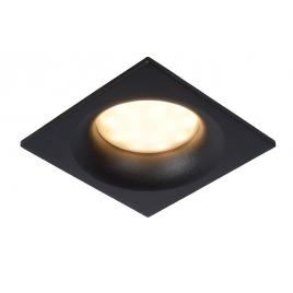 Spot encastrable carré noir de salle de bain Ziva GU10 5 W dimmable LUCIDE