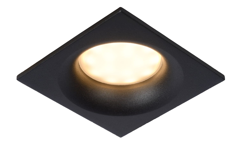 Spot Encastrable Carre Noir De Salle De Bain Ziva Gu10 5 W
