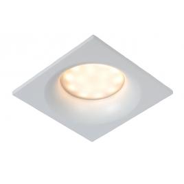 Spot encastrable carré blanc de salle de bain Ziva GU10 5 W dimmable LUCIDE