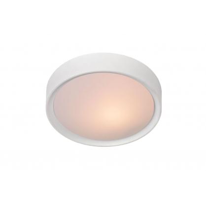 Plafonnier blanc Lex Ø 25 cm E27 9 W dimmable LUCIDE