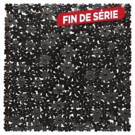 Tapis de douche antidérapant Flor 54 x 54 cm noir SEALSKIN
