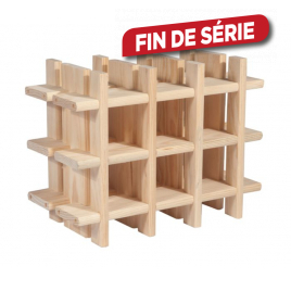 Porte bouteilles en bois 32,5 x 43 x 22 cm
