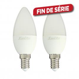 Ampoule LED flamme E14 7 W 806 lm blanc chaud 2 pièces XANLITE