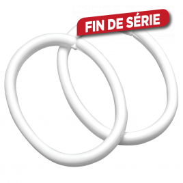 Set d'anneaux de rideau Clips blanc 12 pièces SEALSKIN