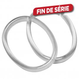 Set d'anneaux de rideau Clips transparent 12 pièces SEALSKIN