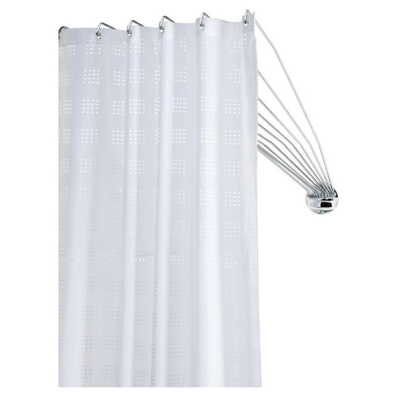 barre de rideau de douche d angle umbrella chrome 80 cm sealskin mr bricolage