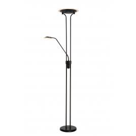 Lampadaire noir Champion LED 24 W dimmable LUCIDE