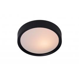Plafonnier noir Lex Ø 25 cm E27 9 W dimmable LUCIDE