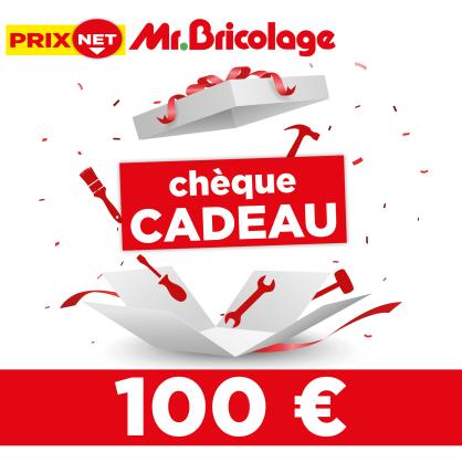 Chèque cadeau Mr.Bricolage 100 €