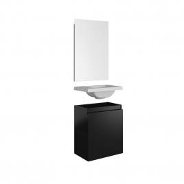 Meuble lave-mains Porto noir 40 x 51 x 25 cm ALLIBERT