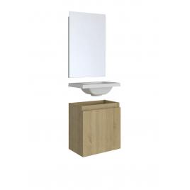 Meuble lave-mains Porto chêne hamilton 40 x 51 x 25 cm ALLIBERT