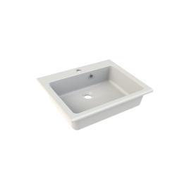 Vasque à encastrer Kianja 50 x 1,5 x 40 cm blanc brillant ALLIBERT