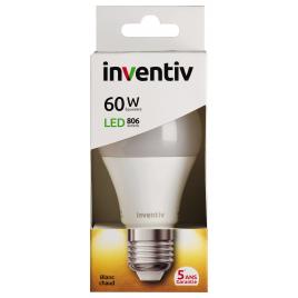 Ampoule LED classique E27 9 W 806 lm blanc chaud INVENTIV