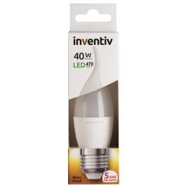 Ampoule LED flamme Coup de Vent E27 6 W 470 lm blanc chaud INVENTIV