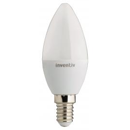 Ampoule LED flamme E14 6 W 470 lm blanc chaud INVENTIV