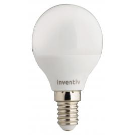 Ampoule LED boule E14 6 W 470 lm blanc chaud INVENTIV