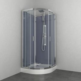 Cabine de douche Everest 1/4 rond 90 x 90 x 225 cm ALLIBERT
