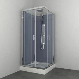 Cabine de douche Everest carrée 90 x 90 x 225 cm ALLIBERT