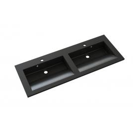 Plan de toilette Slide 120 cm noir ALLIBERT