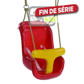 Siège de balançoire pour bébé rouge et jaune