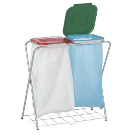 Support pour sac poubelle double avec grille CASIBEL