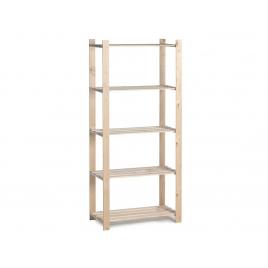 Etagère en bois Woody Rack 175 x 80 x 40 cm 5 tablettes PRACTO HOME