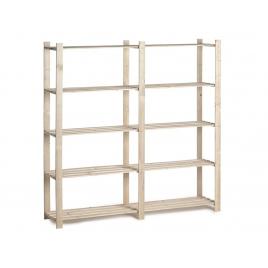 Etagère en bois Woody Rack 175 x 175 x 40 cm 5 tablettes PRACTO HOME