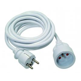 Allonge électrique en PVC 3G1.5 5 m blanc PROFILE