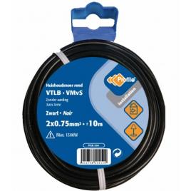 Câble VTLB 2 x 0.75 mm² 10 m noir PROFILE
