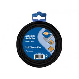 Câble audio 2 x 0,75 mm² 25 m noir PROFILE