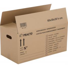 Boîte de déménagement 60 x 30 x 30 cm PRACTO HOME