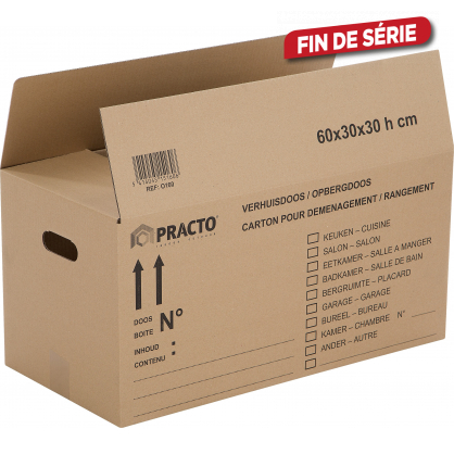 Boîte de déménagement 80 x 40 x 40 cm PRACTO HOME