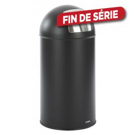 Poubelle Retro noire 50 L CASIBEL
