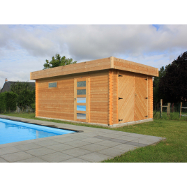 Garage Moderne 40 mm avec double porte 3,58 x 5,38 m SOLID