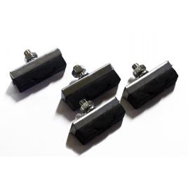 Patins de freins avec écrous 4 pièces