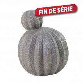 Cactus gris en ciment 24 x 23,5 x 30 cm