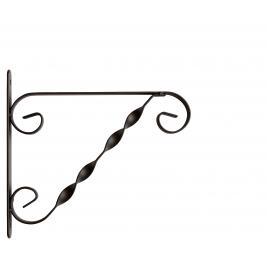 Potence murale noire en métal 25 cm
