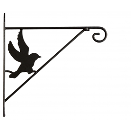 Potence murale Oiseau en métal 25 cm