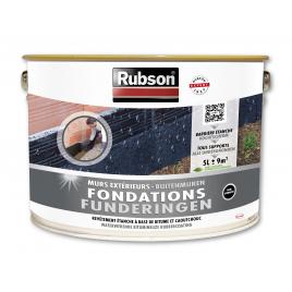 Enduit de fondation noir pour mur extérieur 5 L RUBSON