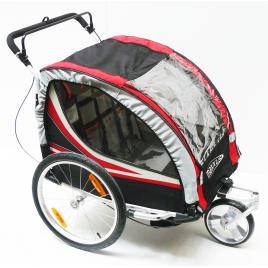Remorque de vélo pliable pour 1 à 2 enfants