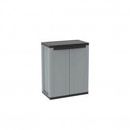 Armoire de rangement basse Jline 85 x 68 x 37,5 cm grise