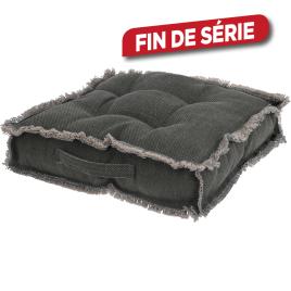 Galette de chaise grise foncée 45 x 45 cm
