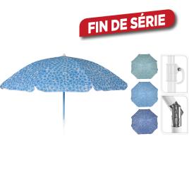 Parasol de plage fleuri inclinable Ø 155 cm