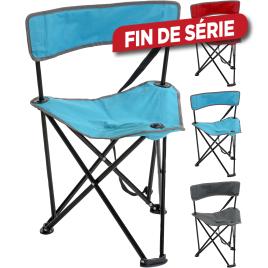 Chaise de camping pliante à 3 pieds 44 x 44 x 73 cm