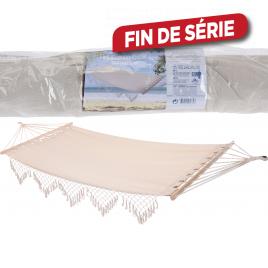 Hamac avec barres en bois 200 x 100 cm