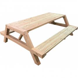 Table pique-nique en pin 200 x 175 x 70 cm SOLID