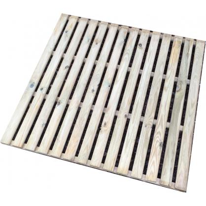 Dalle en bois 100 x 100 x 2,8 cm SOLID