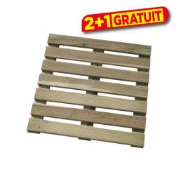 Dalle en bois 50 x 50 x 2,8 cm SOLID